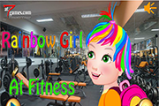 Rainbow Girl At Fitness
